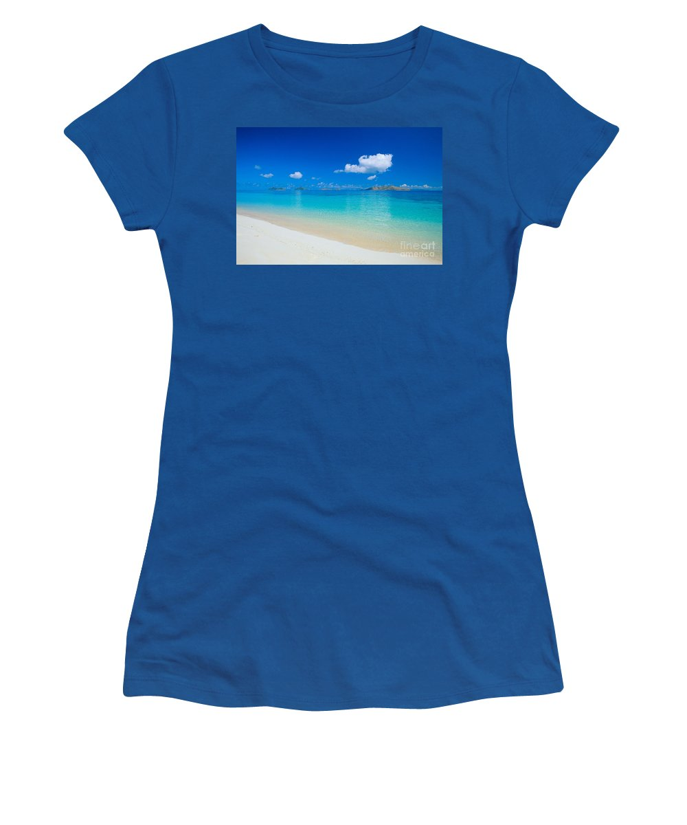 Beautiful Women's T-Shirt featuring the photograph Fiji, Mana Island by Dave Fleetham - Printscapes