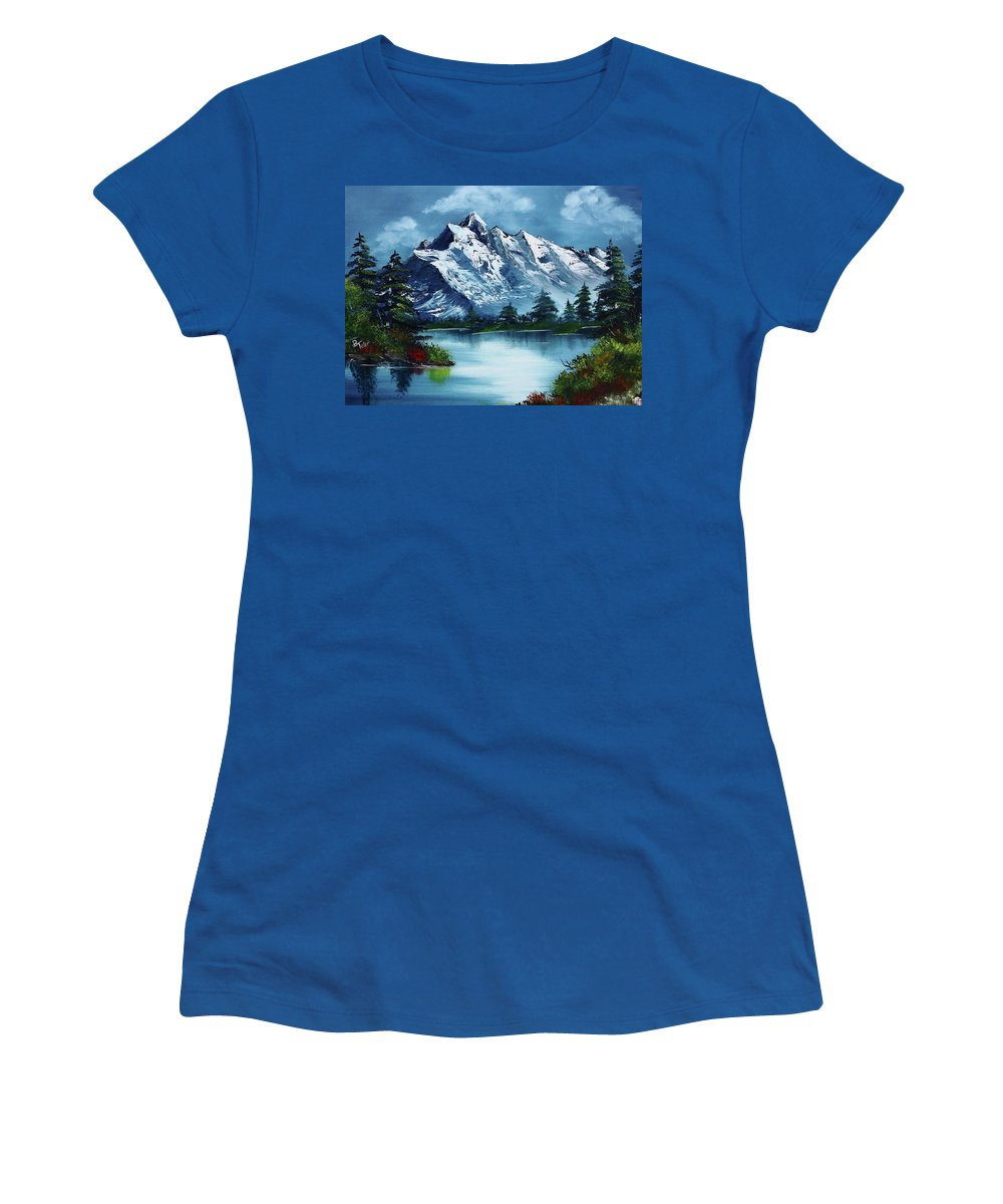 Women's T-Shirt featuring the painting Take A Breath by Barbara Teller