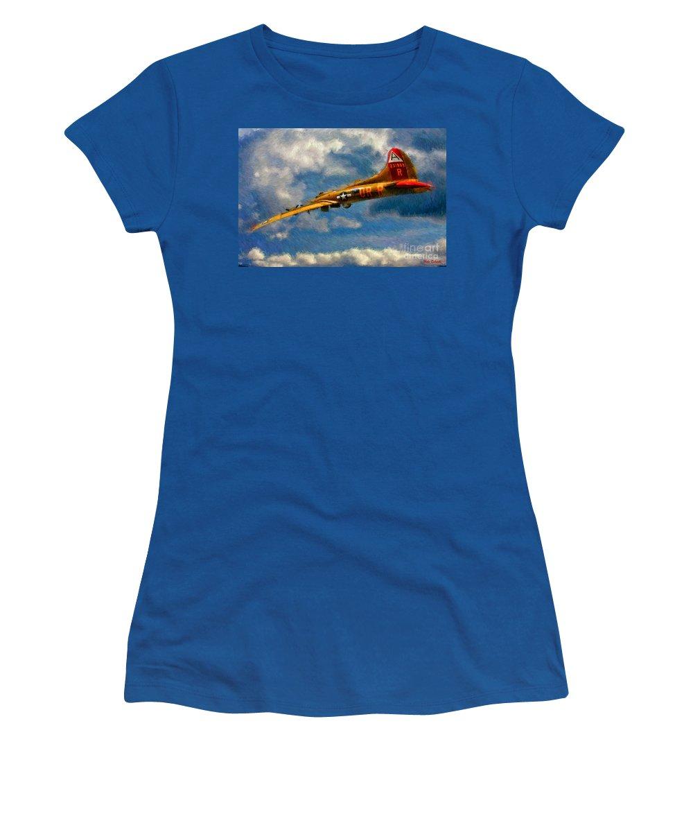 1949 Boeing B-17b Flying Fortress Women's T-Shirt featuring the photograph 1949 Boeing B-17b Flying Fortress by Blake Richards