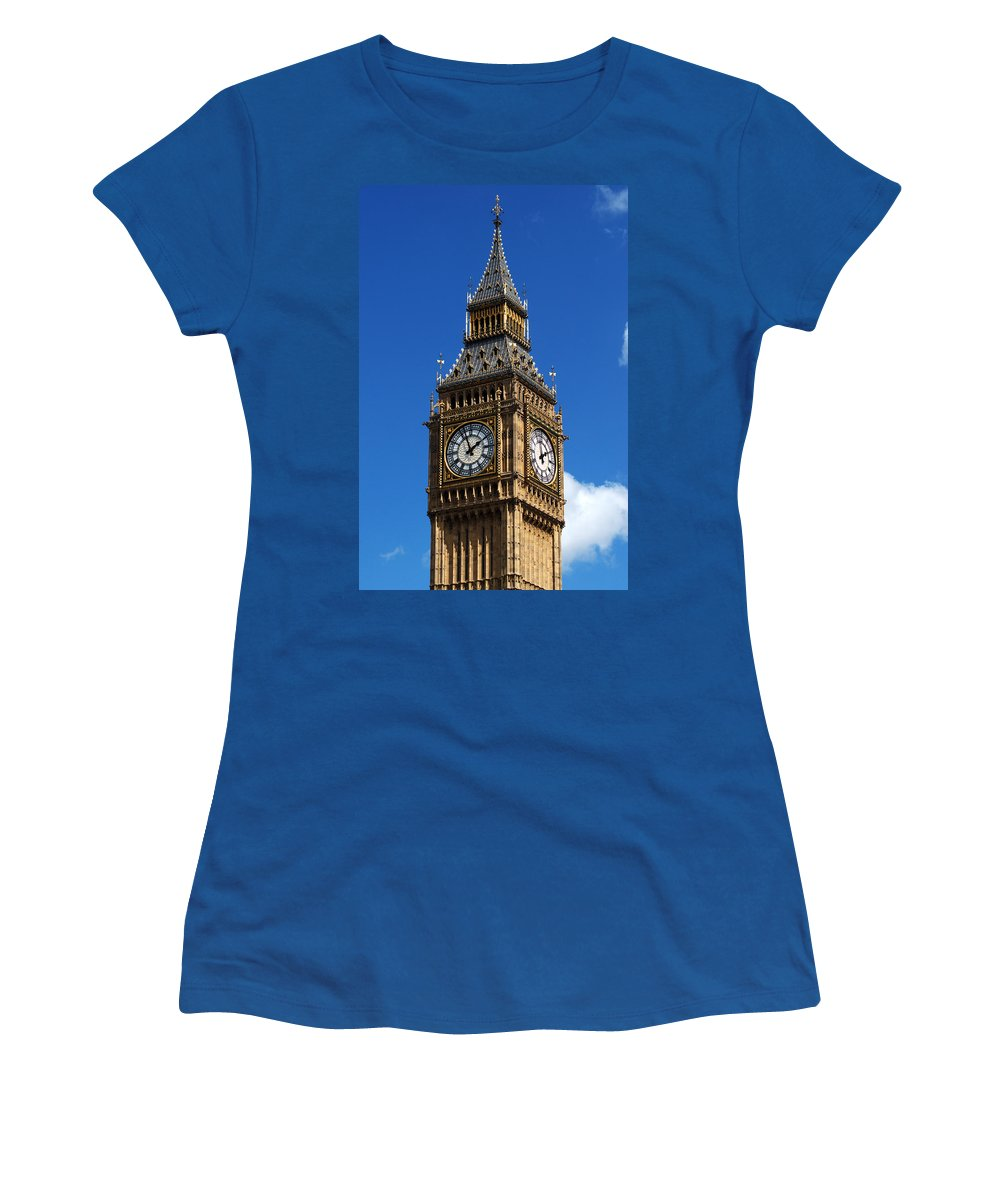 Big Ben Women's T-Shirt featuring the photograph Palace Of Westminster by Chris Day