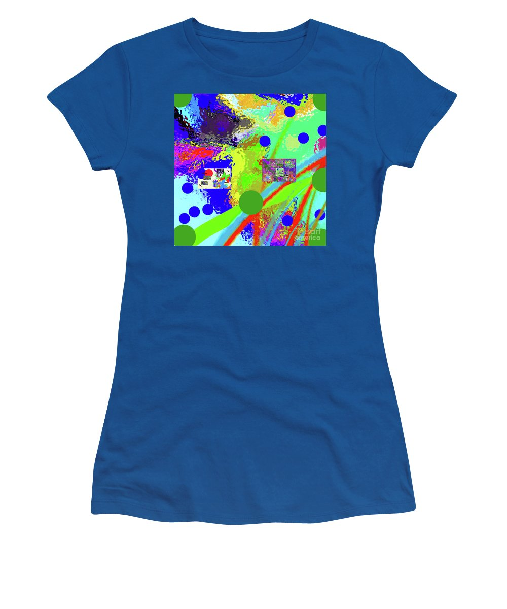 Walter Paul Bebirian Women's T-Shirt featuring the digital art 3-13-2015labcdefghij by Walter Paul Bebirian