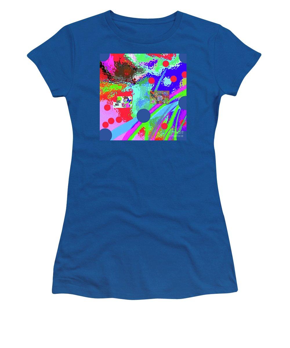 Walter Paul Bebirian Women's T-Shirt featuring the digital art 3-13-2015labcdefghijklmnopqrtuvwxyzabcdefghijk by Walter Paul Bebirian