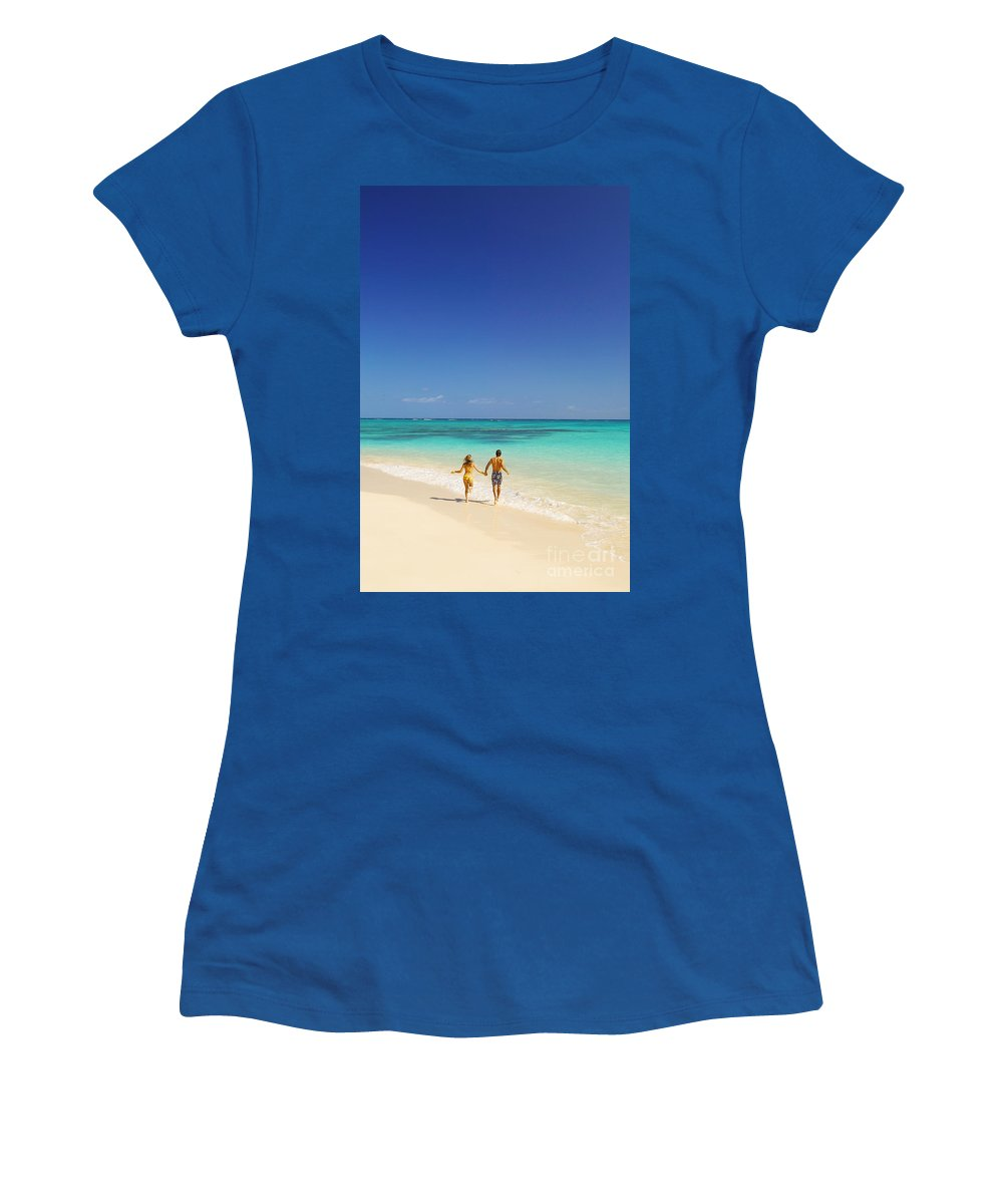 Active Women's T-Shirt featuring the photograph Lanikai Beach by Dana Edmunds - Printscapes