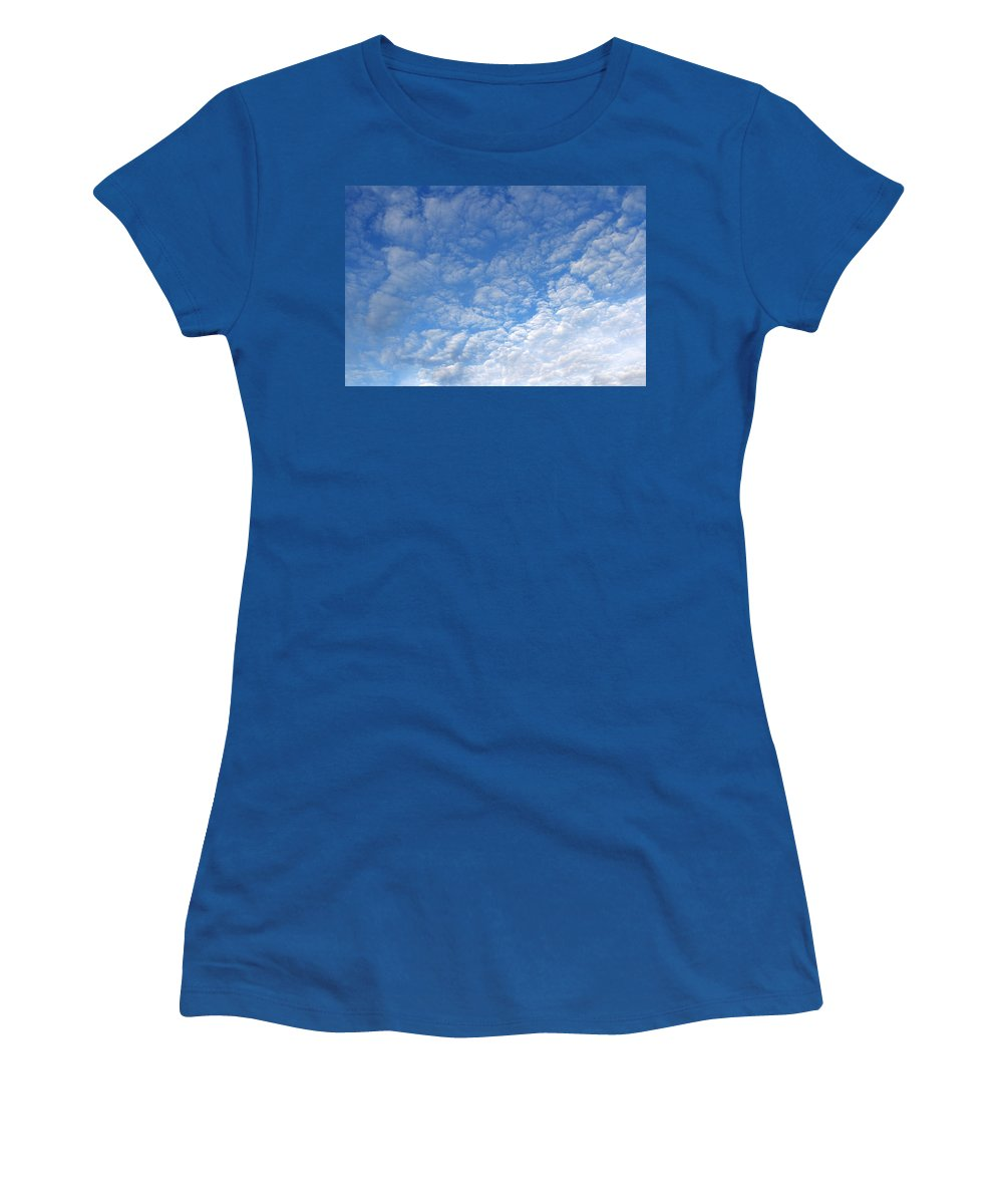 Air Women's T-Shirt featuring the photograph Clouds by Les Cunliffe
