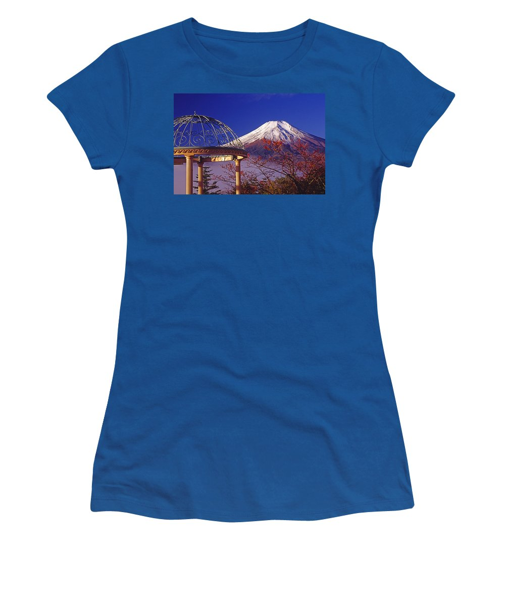 Japan Women's T-Shirt featuring the photograph Mount Fuji In Autumn by Michele Burgess