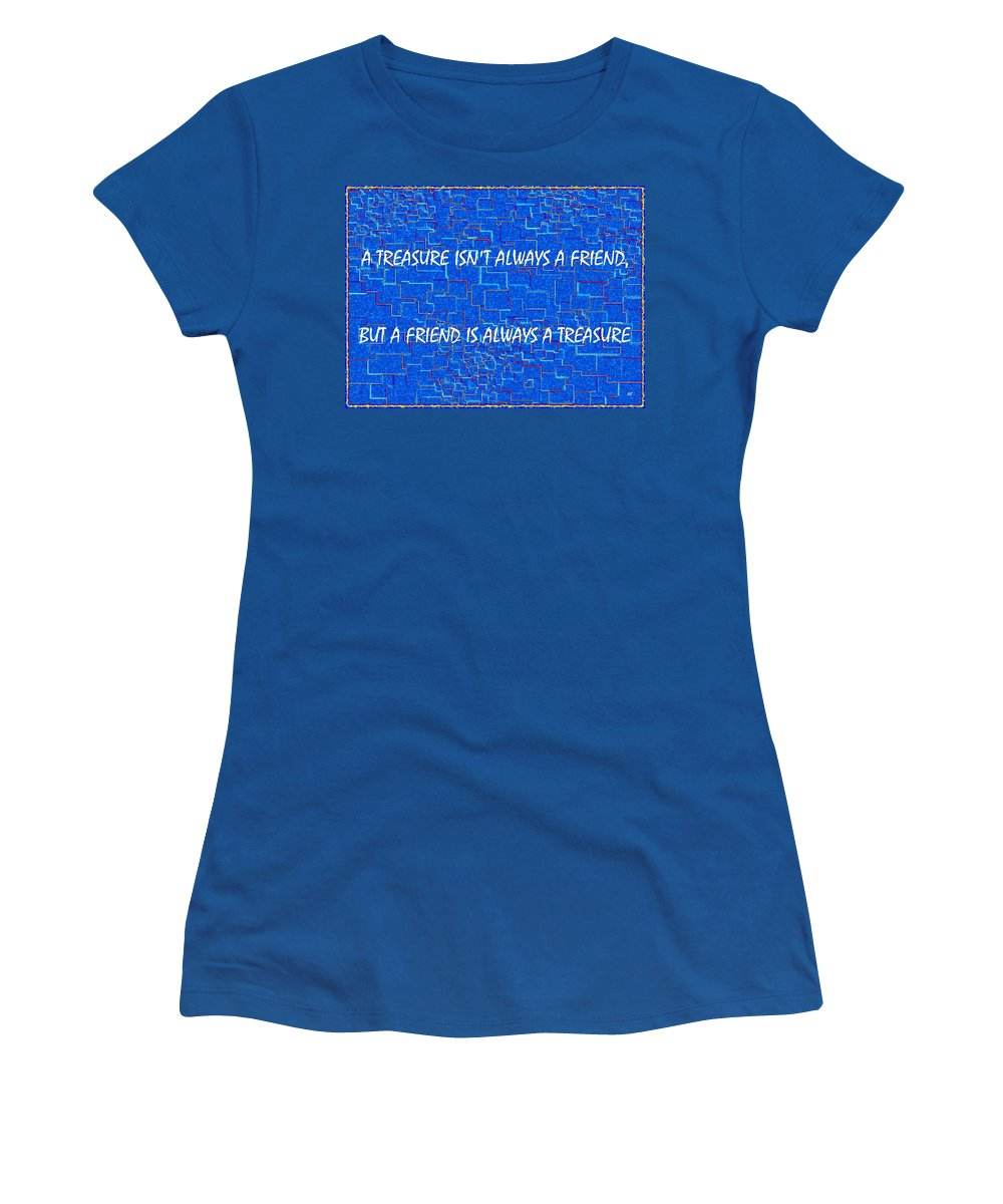 Text Design Women's T-Shirt (Athletic Fit) featuring the digital art A Treasure by Will Borden
