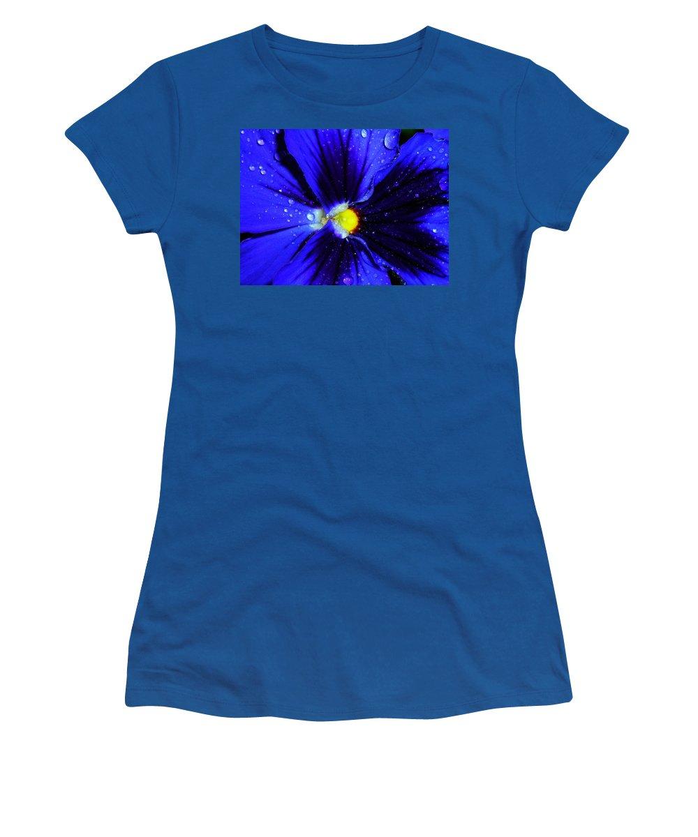 Flower Women's T-Shirt featuring the photograph After The Rain ... by Juergen Weiss