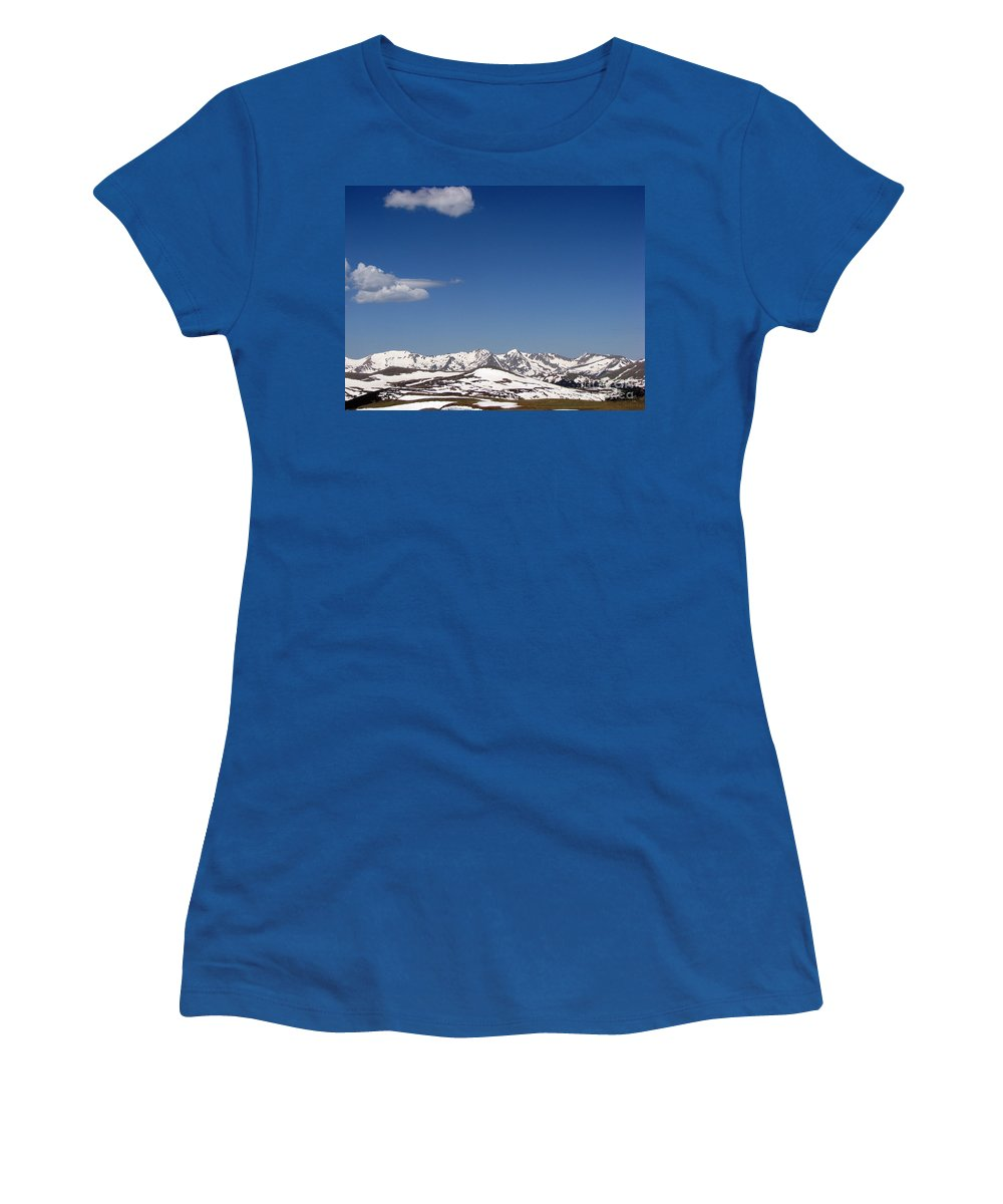 Mountains Women's T-Shirt featuring the photograph Alpine Tundra Series by Amanda Barcon