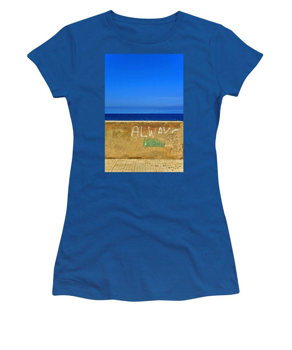Graffiti Women's T-Shirt featuring the photograph Always by Silvia Ganora
