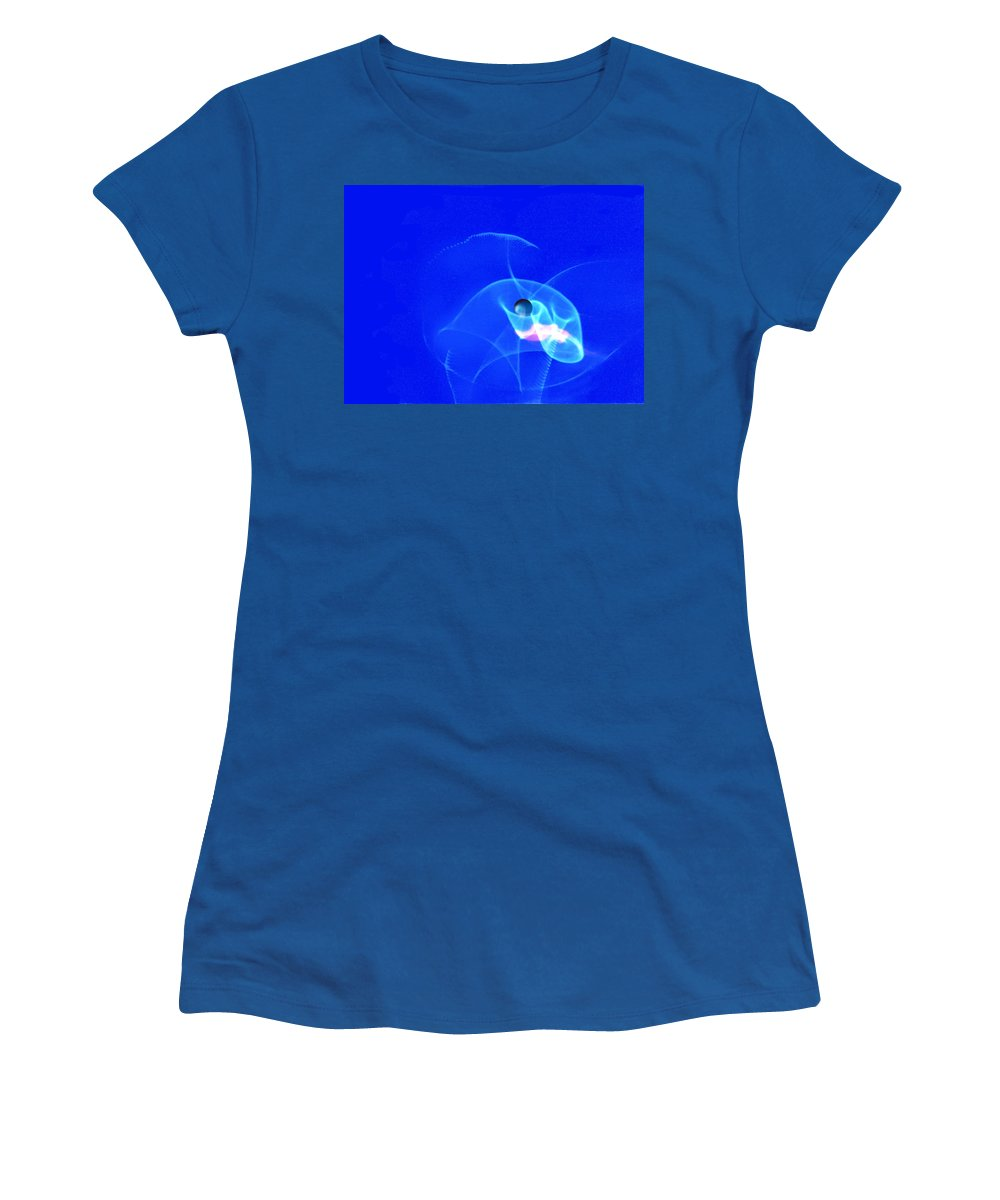 Abstract Women's T-Shirt (Athletic Fit) featuring the photograph Apparition Pearl by Steve Karol