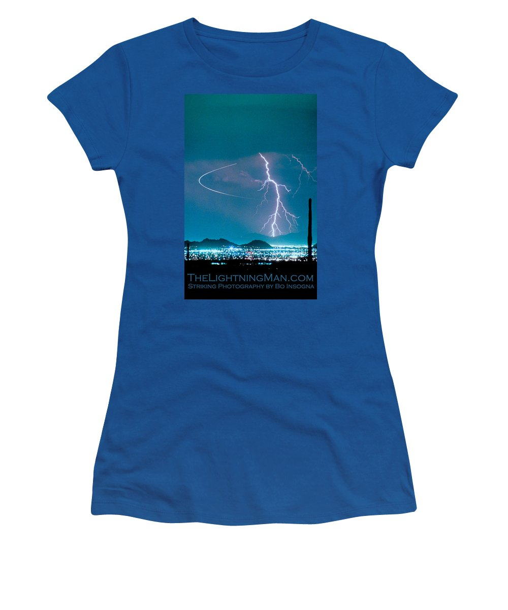 Lightning Women's T-Shirt featuring the photograph Bo Trek The Poster by James BO Insogna