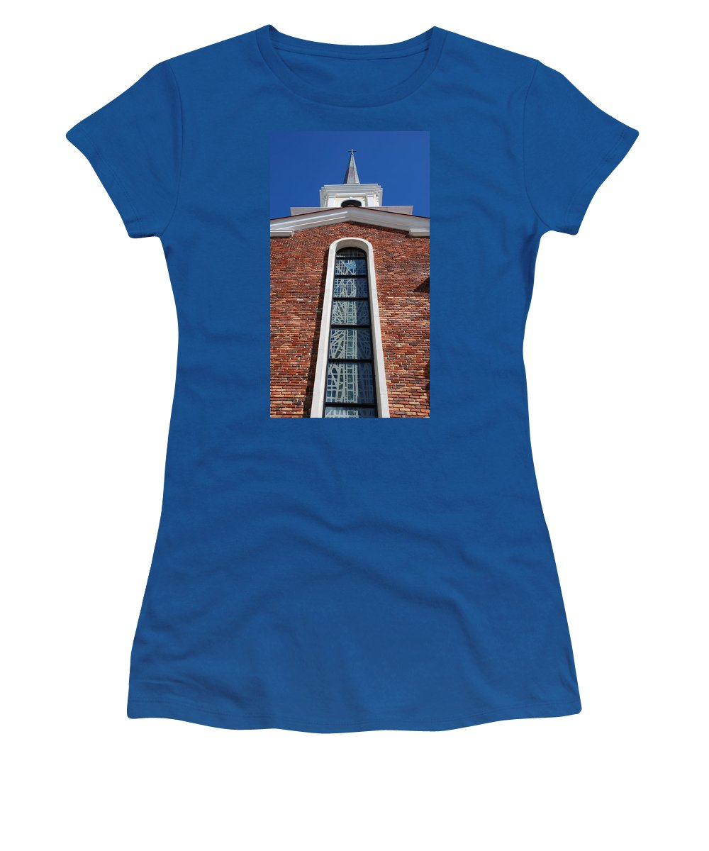 Architecture Women's T-Shirt featuring the photograph Brick Church by Rob Hans