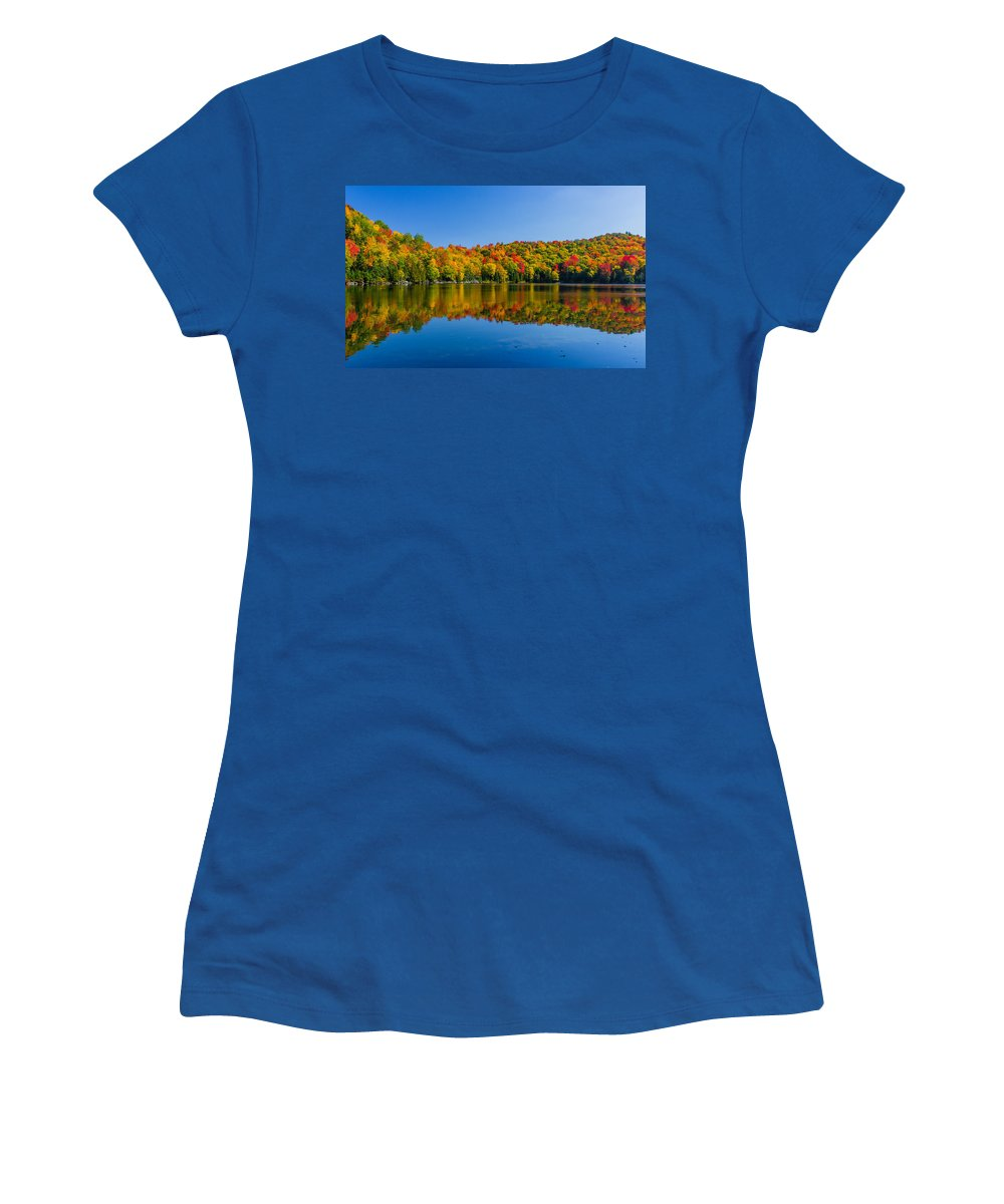Tree Women's T-Shirt featuring the photograph Bright Reflection by Tim Kirchoff