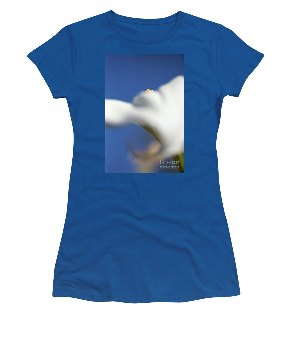 Calla Lily Photographs Women's T-Shirt featuring the photograph Calla And Sky by Brooke Roby