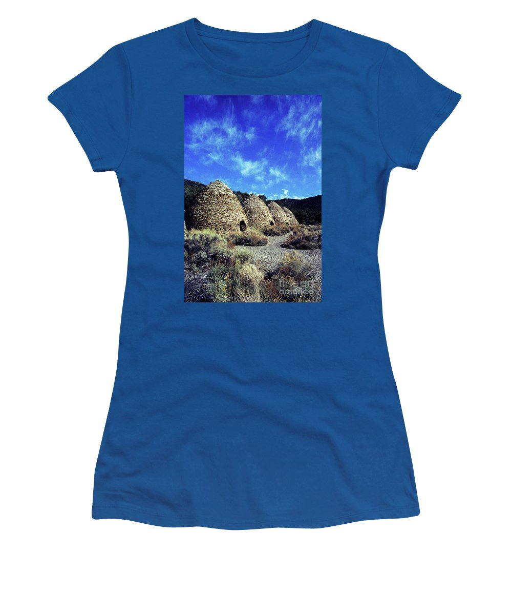 Wild Rose Canyon Women's T-Shirt (Athletic Fit) featuring the photograph Charcoal Kilns by Jim And Emily Bush