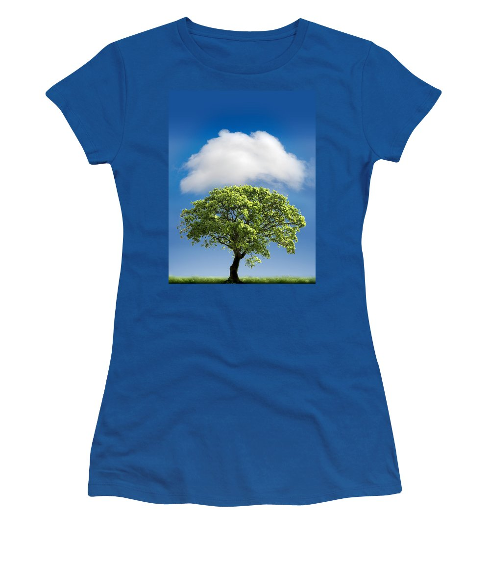 Tree Women's T-Shirt featuring the photograph Cloud Cover by Mal Bray