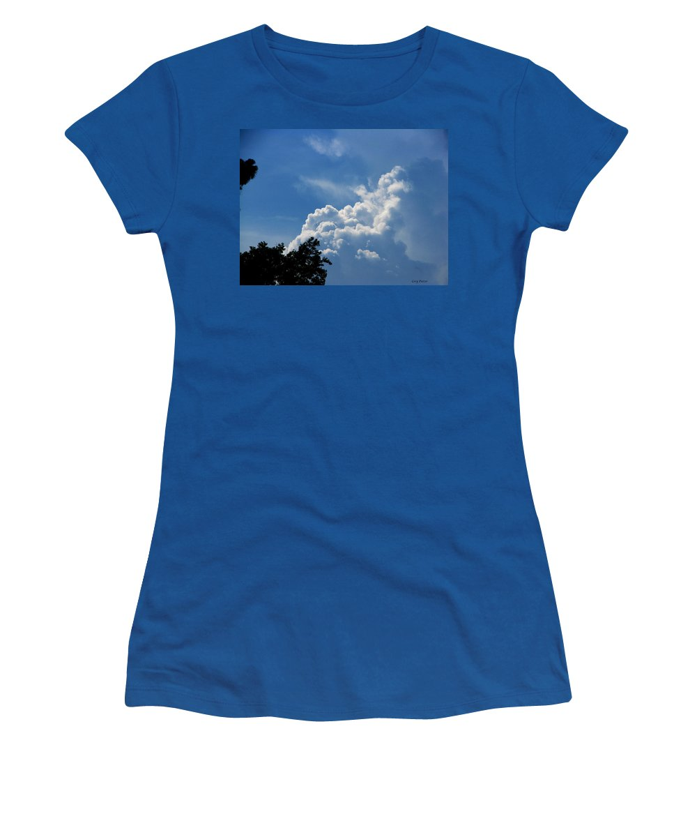 Patzer Women's T-Shirt (Athletic Fit) featuring the photograph Clouds Of Art by Greg Patzer