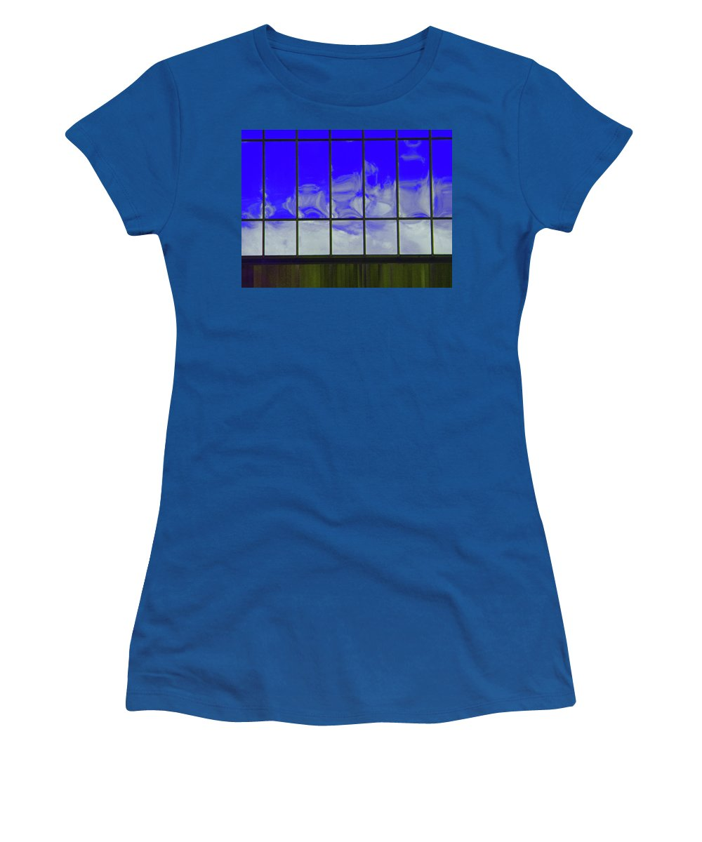Abstract Women's T-Shirt featuring the photograph Clouds Reflected by Lenore Senior