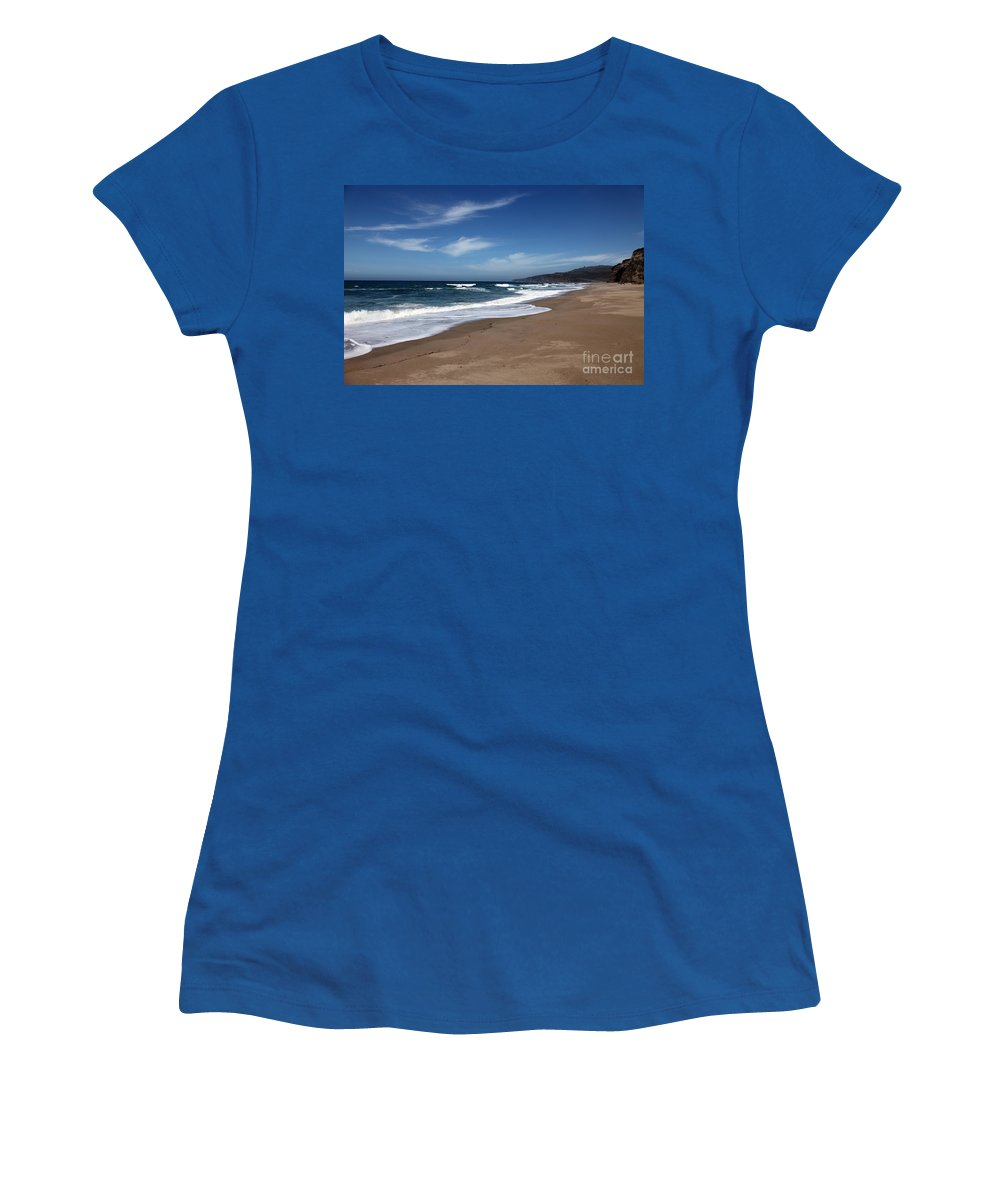 images Of California Women's T-Shirt (Athletic Fit) featuring the photograph Coast Line by Amanda Barcon