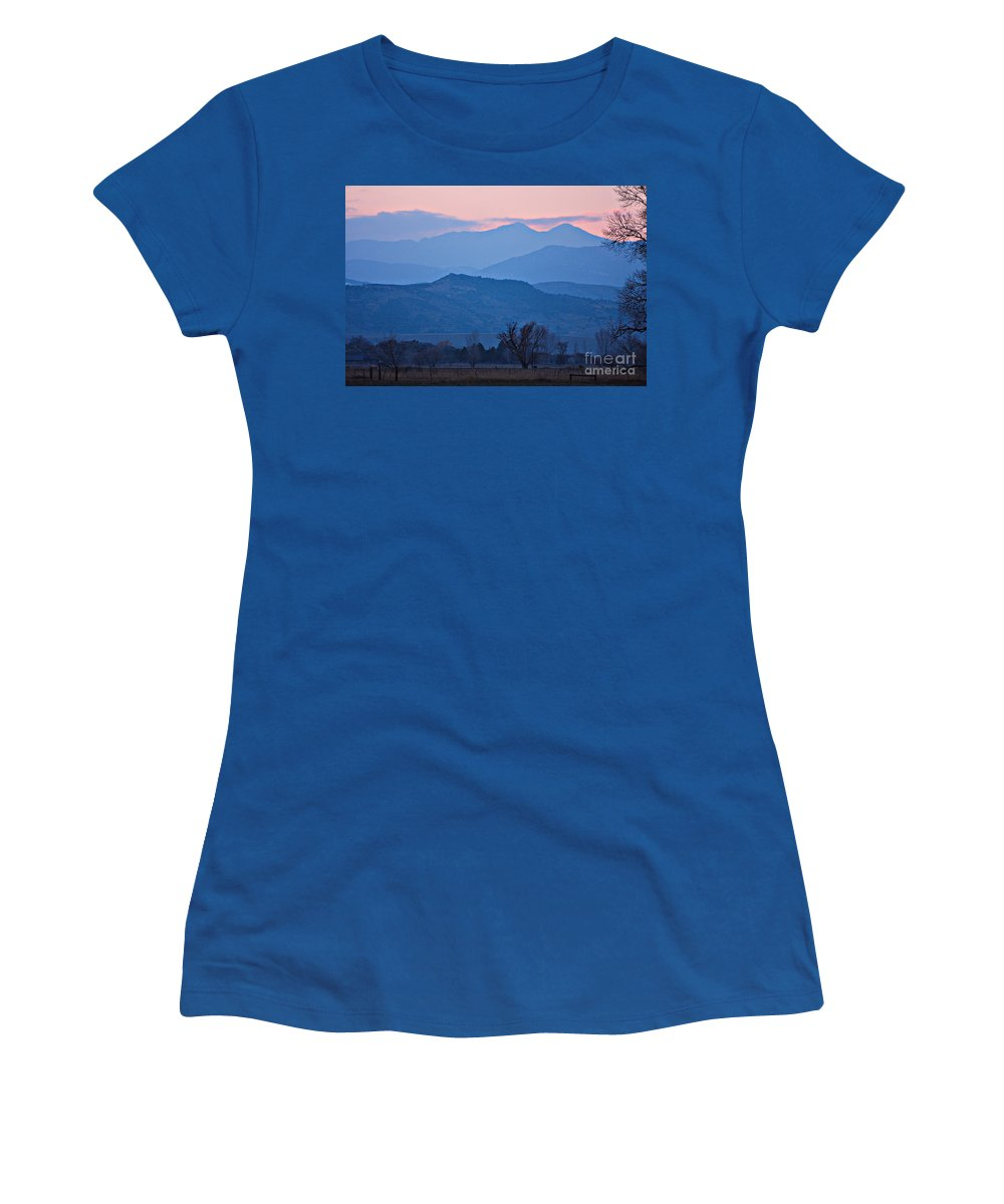 Boulder Women's T-Shirt featuring the photograph Colorado Country - Boulder County by James BO Insogna