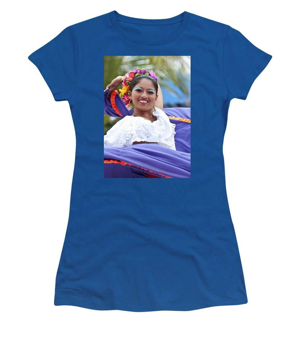Costa Maya Women's T-Shirt (Athletic Fit) featuring the photograph Costa Maya Dancer by Steven Sparks