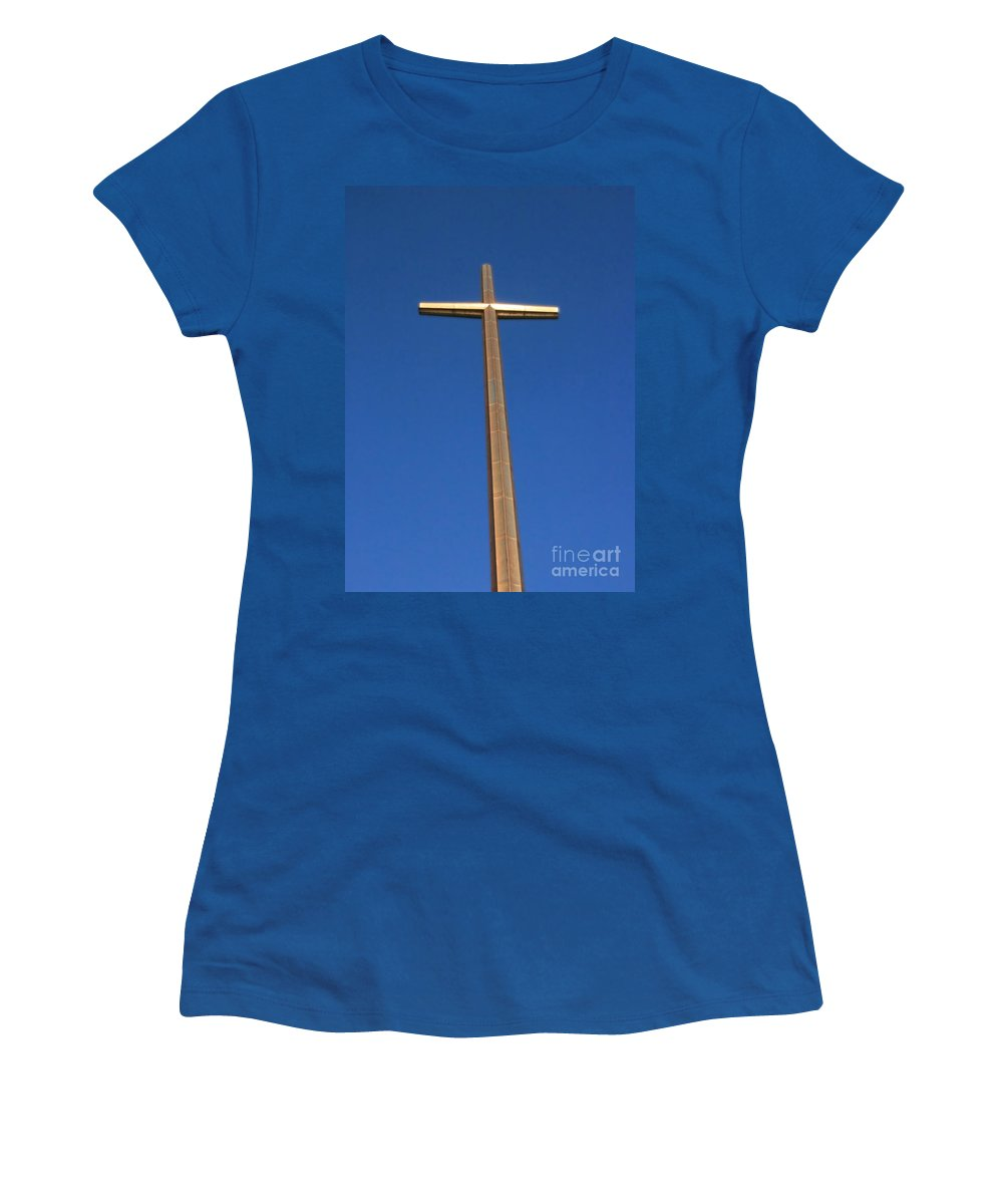 Cross Women's T-Shirt featuring the photograph Cross Of St Augustine by Robert Wilder Jr