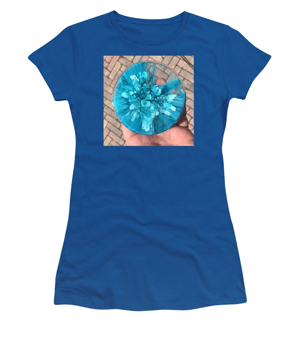 Resin Casting Women's T-Shirt featuring the mixed media Deep Blue by Carl Barnowski