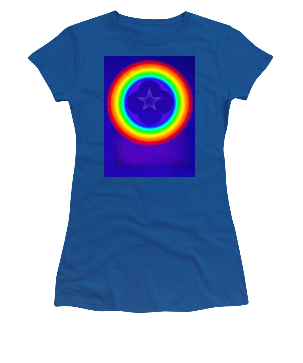 Abstract Women's T-Shirt featuring the painting Deep Blue See by Charles Stuart