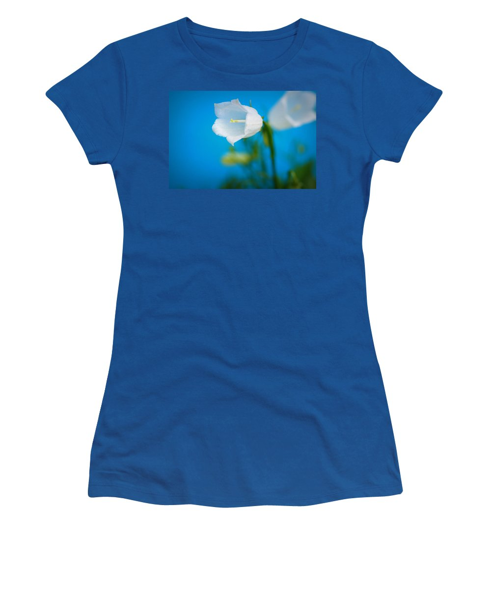 Bell Women's T-Shirt (Athletic Fit) featuring the photograph Delicate Bells by Lisa Knechtel