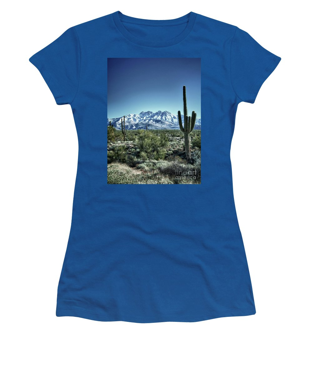 Arizona Women's T-Shirt featuring the photograph Desert Snow by Saija Lehtonen