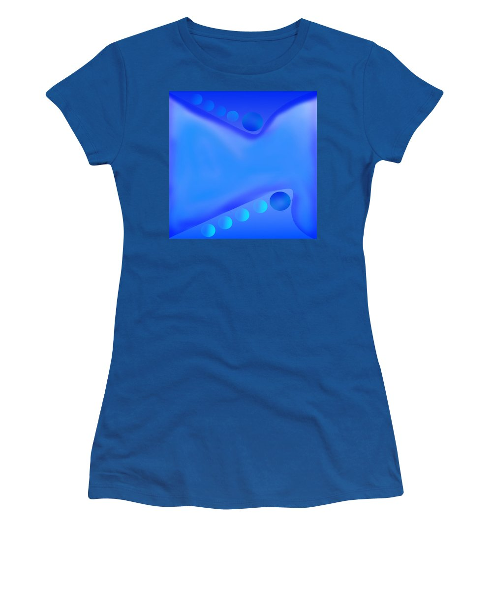Blue Women's T-Shirt (Athletic Fit) featuring the digital art Design #17 by Bukunolami