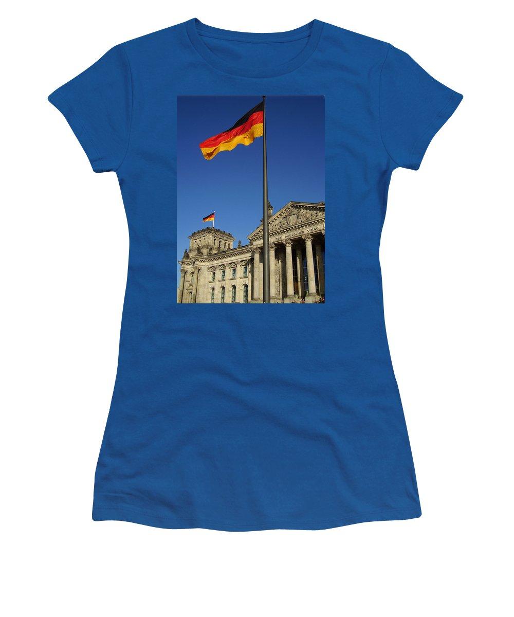 Deutscher Bundestag Women's T-Shirt (Athletic Fit) featuring the photograph Deutscher Bundestag by Flavia Westerwelle