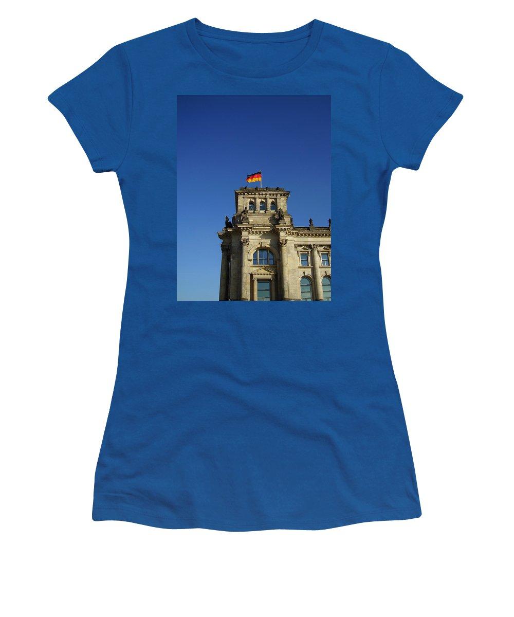 Deutscher Bundestag Women's T-Shirt (Athletic Fit) featuring the photograph Deutscher Bundestag II by Flavia Westerwelle