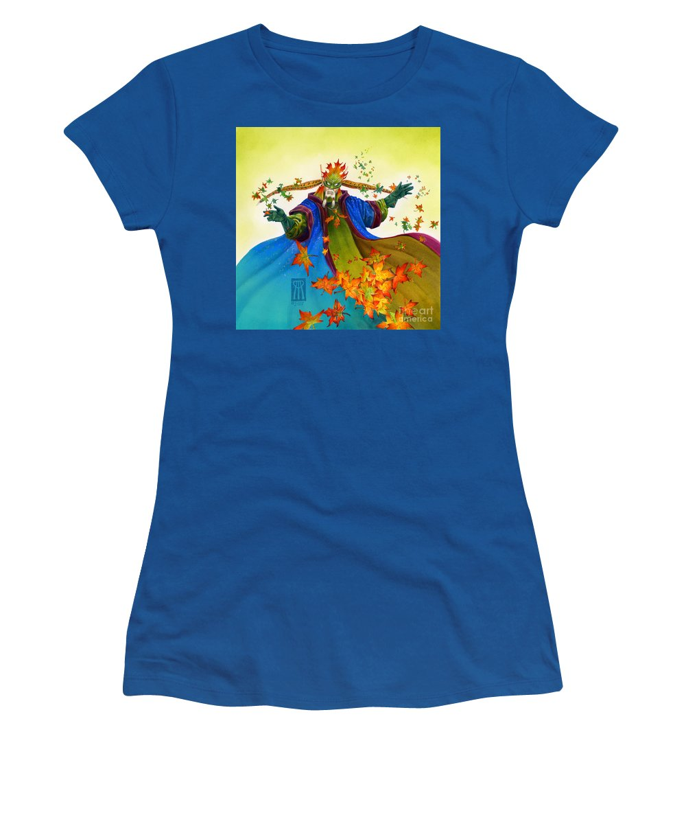Elf Women's T-Shirt (Athletic Fit) featuring the painting Elven Mage by Melissa A Benson
