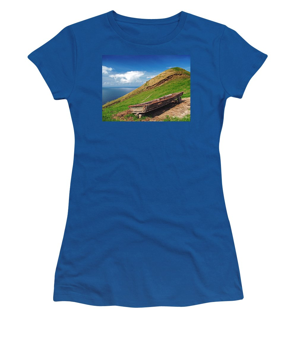Europe Women's T-Shirt (Athletic Fit) featuring the photograph Farming In Azores Islands by Gaspar Avila