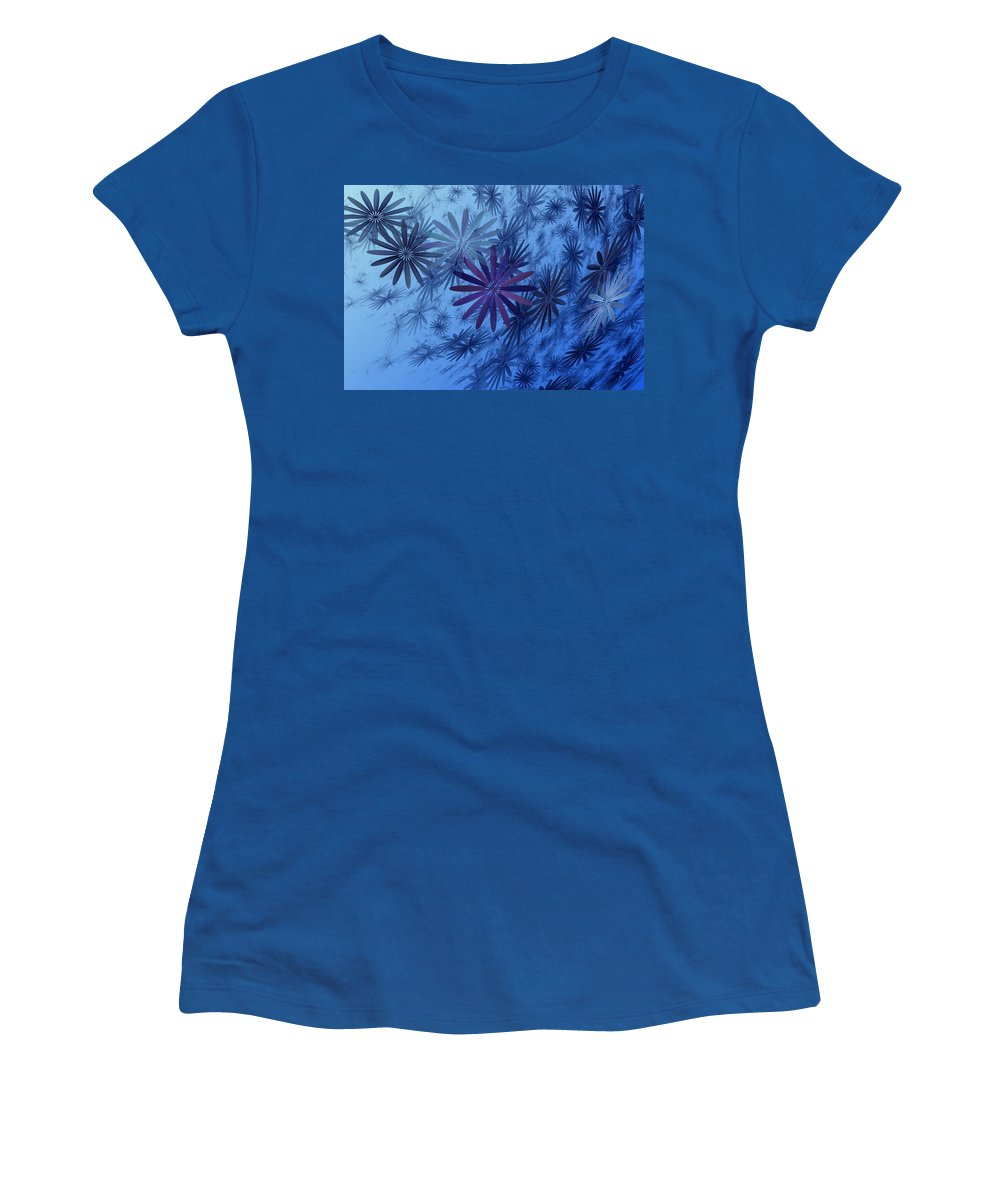 Digital Photography Women's T-Shirt featuring the digital art Floating Floral-010 by David Lane