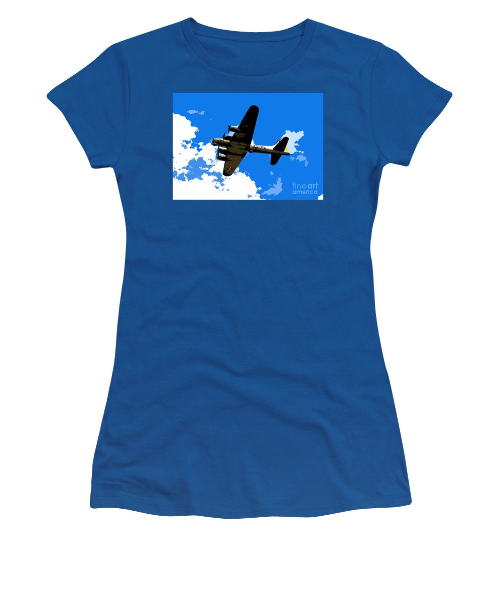 Flying Fortress Women's T-Shirt featuring the photograph Flying Fortress by David Lee Thompson