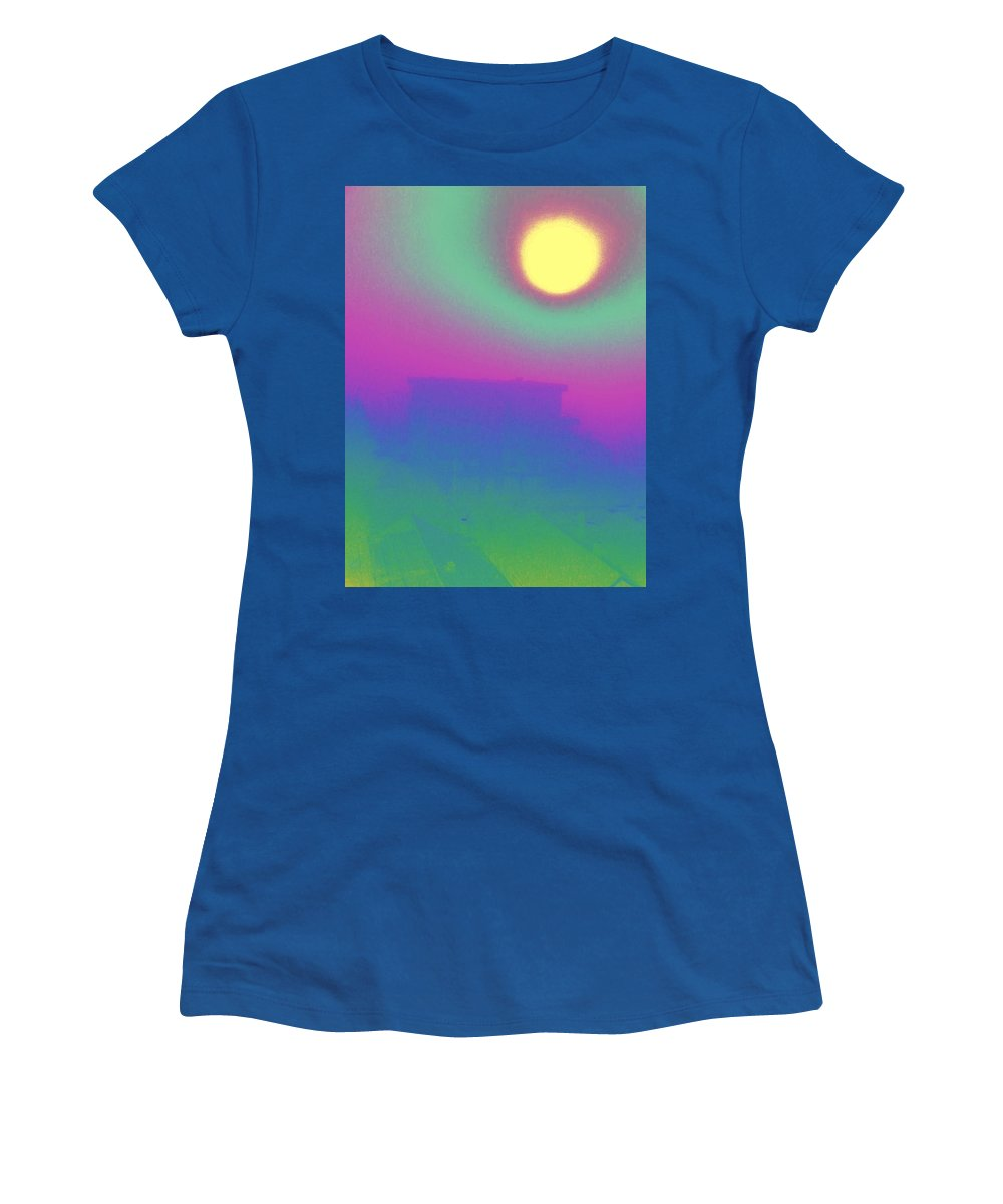 Abstract Women's T-Shirt featuring the digital art Foggy Day by Tim Allen