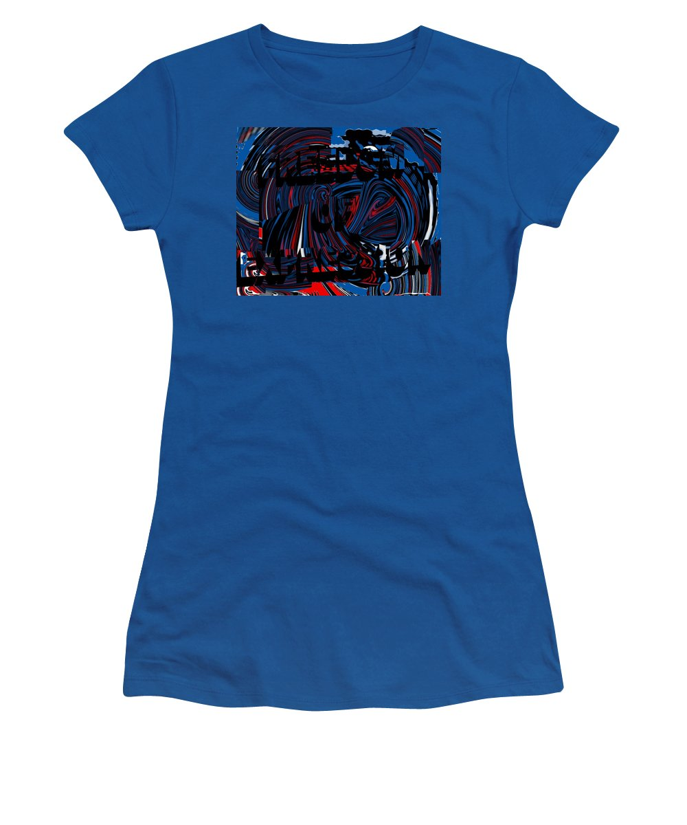 Freedom Of Expression Women's T-Shirt featuring the digital art Freedom Of Expression by Pharris Art