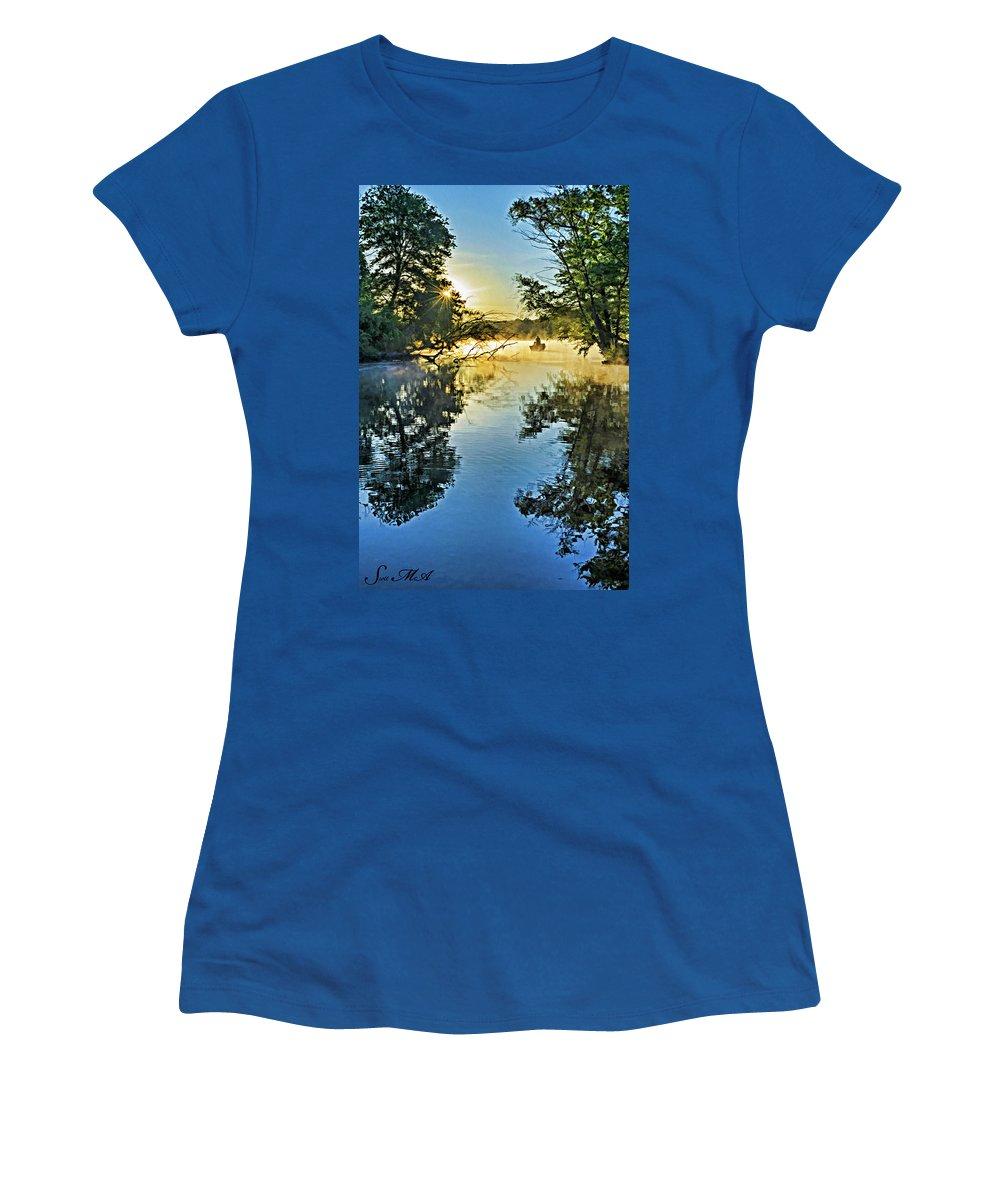 Pennsylvania Women's T-Shirt featuring the photograph French Creek 17-037 by Scott McAllister