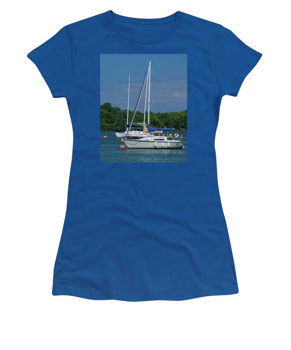 Boat Women's T-Shirt featuring the photograph Gaelforce 10916 by Guy Whiteley
