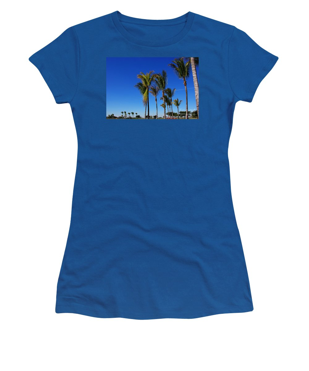 Palm Women's T-Shirt (Athletic Fit) featuring the photograph Glorious Palms by Zal Latzkovich