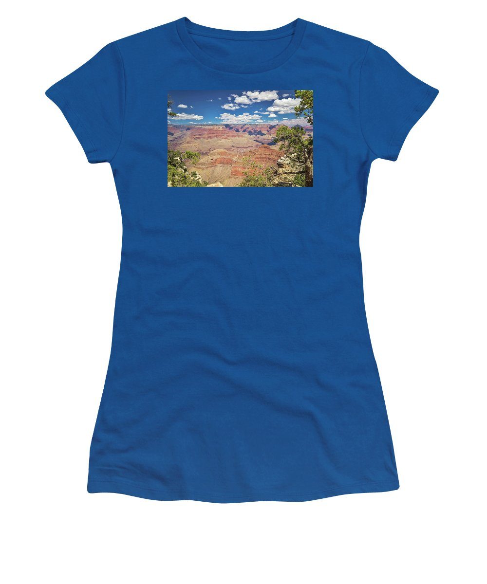 Grand Canyon Women's T-Shirt featuring the photograph Grand Canyon Vista 14 by Marisa Geraghty Photography