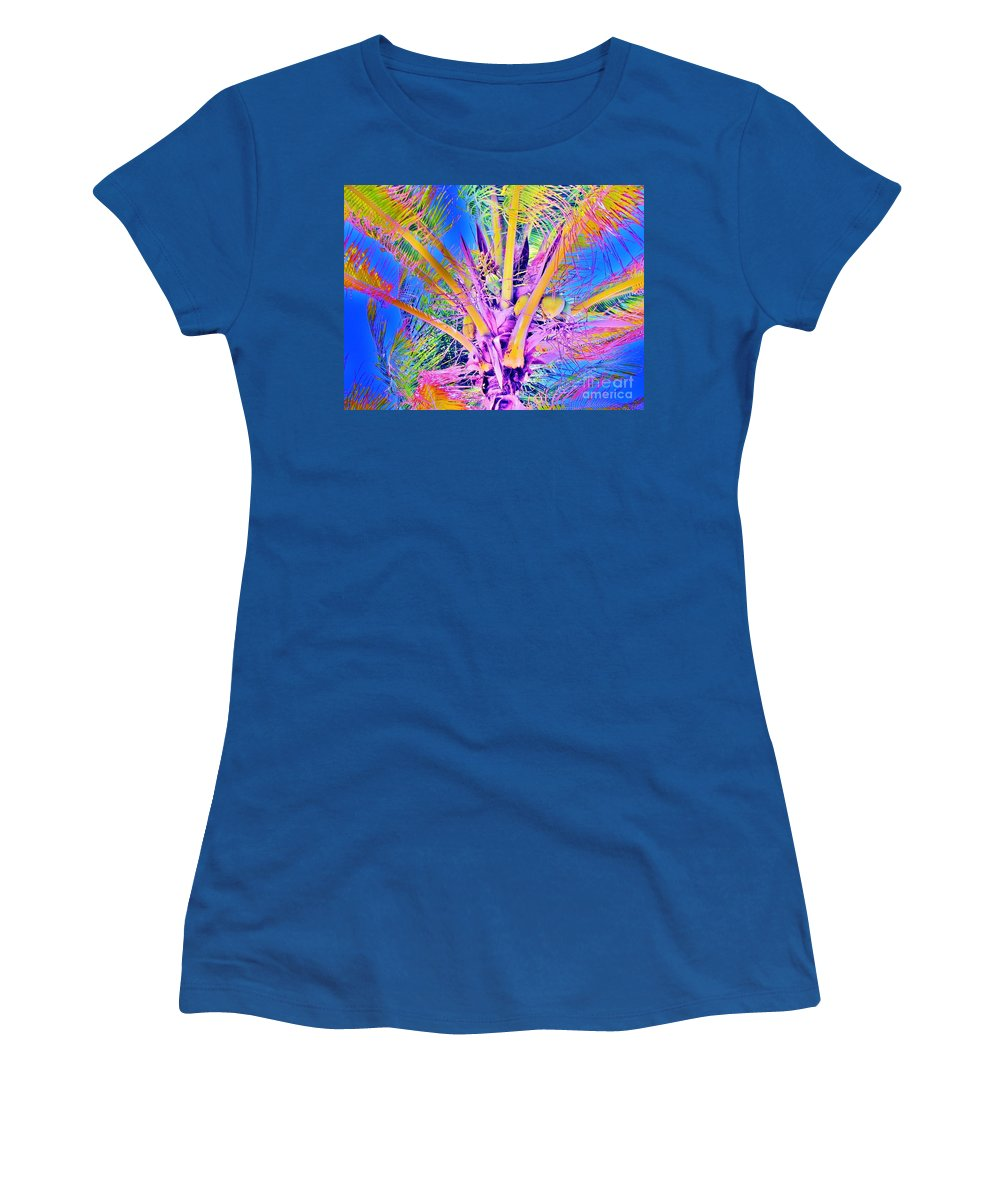 Jellee Pix Women's T-Shirt (Athletic Fit) featuring the digital art Great Abaco Palm by Keri West