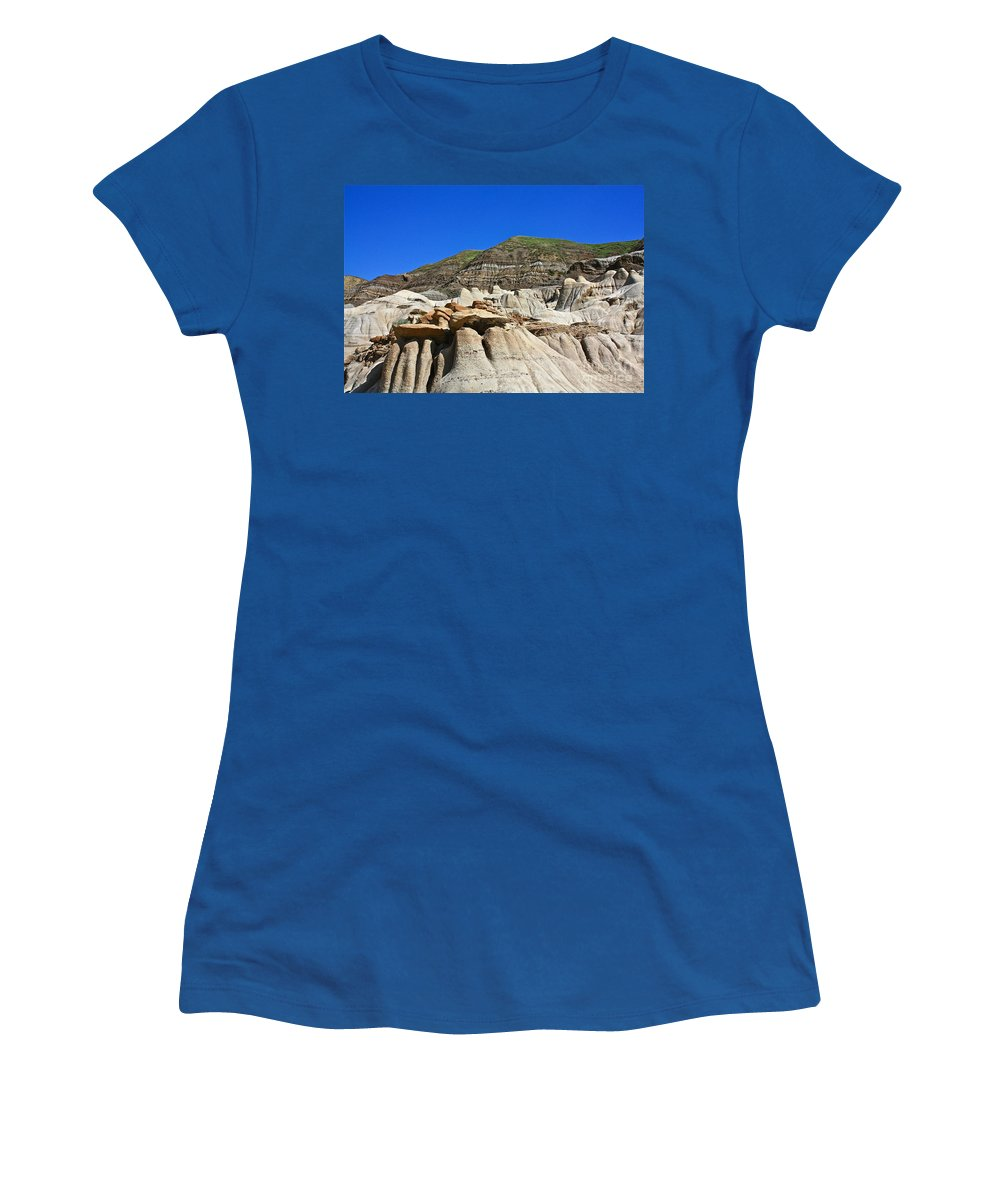 Hoo Doo Women's T-Shirt (Athletic Fit) featuring the photograph Hoo Doos by Linda Bianic
