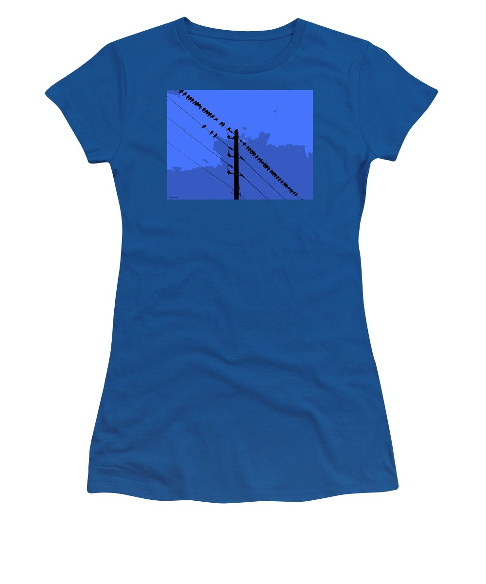 How Gossip Starts Women's T-Shirt featuring the photograph How Gossip Starts by Ed Smith