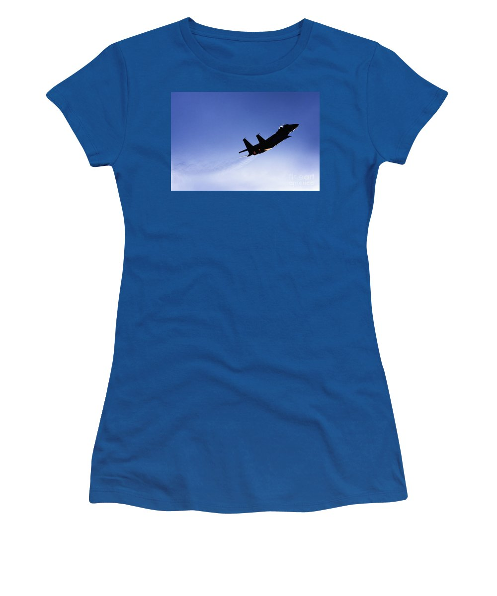 Aircraft Women's T-Shirt (Athletic Fit) featuring the photograph Iaf F15i Fighter Jet by Nir Ben-Yosef