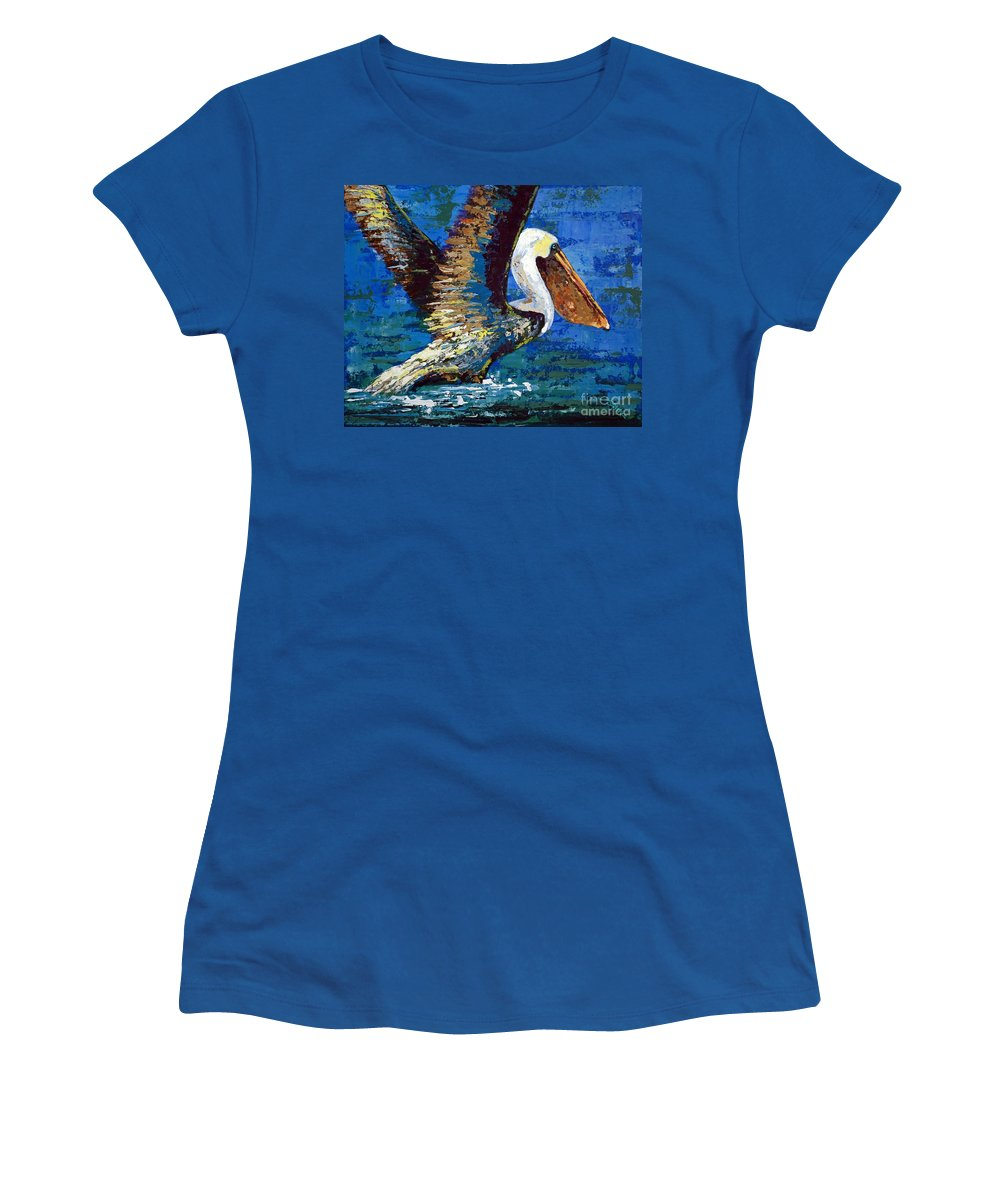 Acrylic Women's T-Shirt featuring the painting Im Outa Here by Suzanne McKee