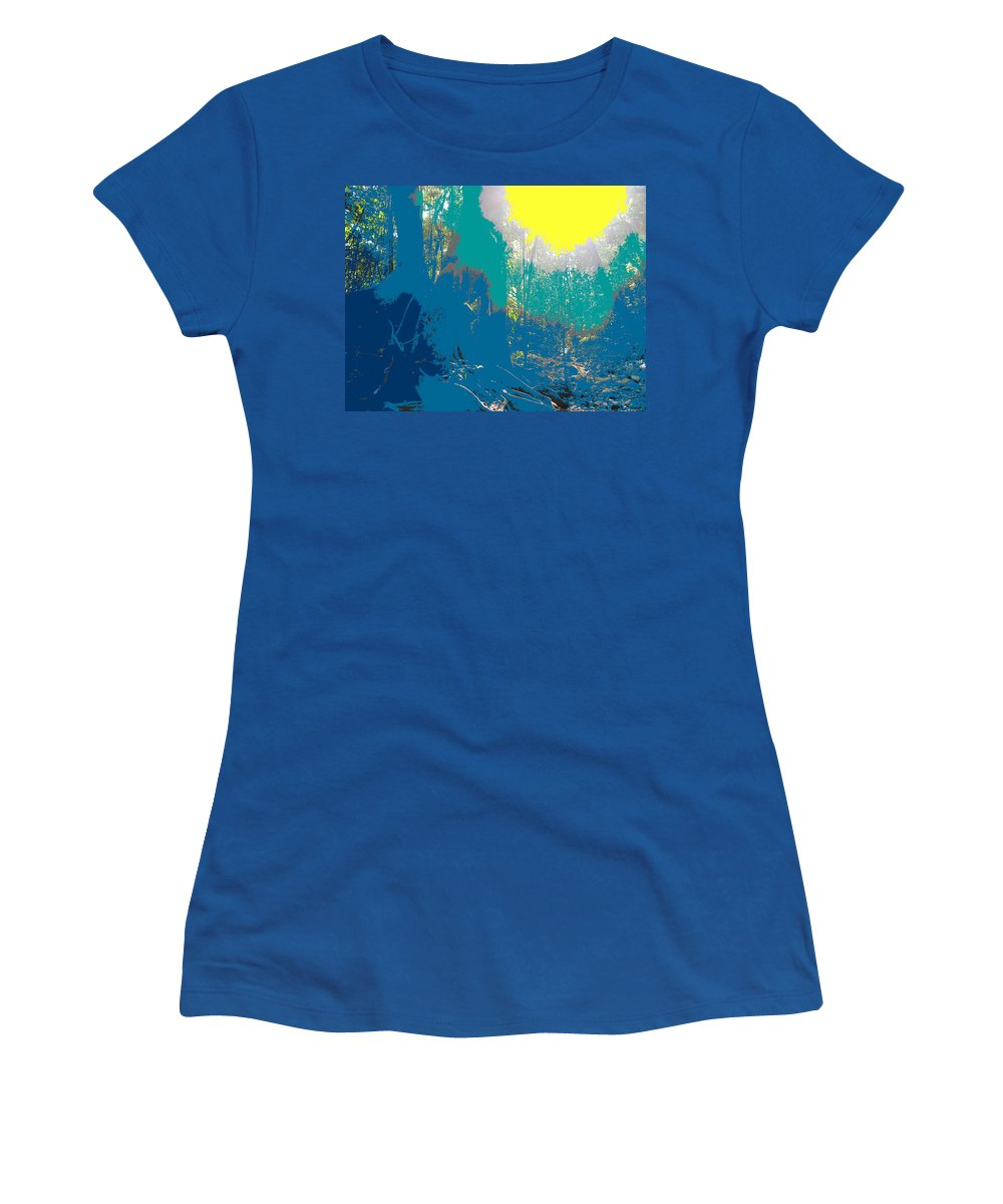 Rainforest Women's T-Shirt (Athletic Fit) featuring the photograph In The Rainforest by Ian MacDonald