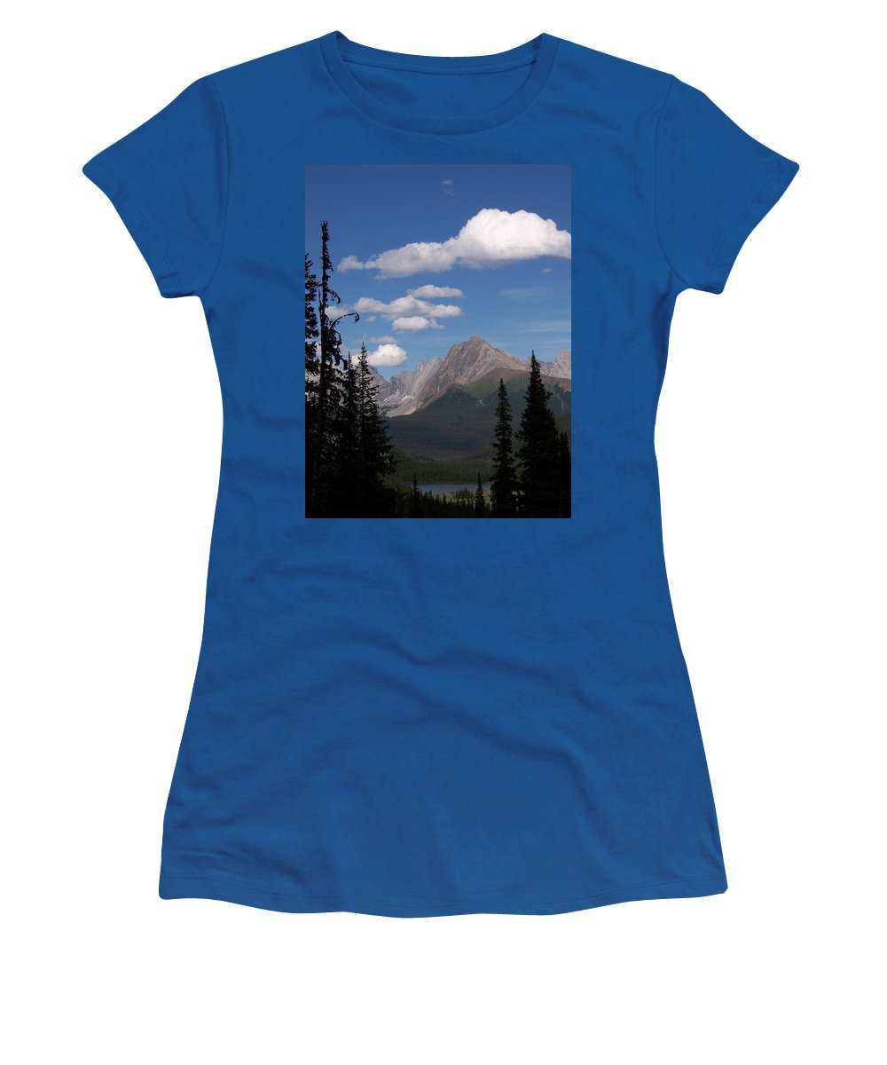 Spectacular View Women's T-Shirt (Athletic Fit) featuring the photograph Into The Valley by Greg Hammond